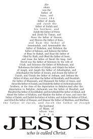 geneology of christ